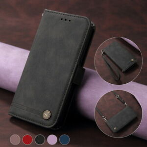 For iPhone 13 12 Pro Max 11 X XR 8 7 Shockproof Leather Wallet Hybrid Case Cover