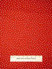 "Christmas Fabric - Polka Dot Red #3294 Benartex Ho Ho Let It Snow  22"" Length"