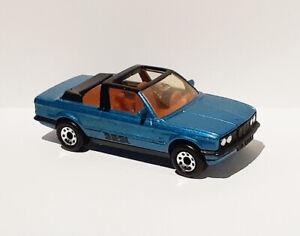 Nice Vintage 1980's Matchbox 1-75 Series #38 BMW 323i Cabriolet in Blue - VGC