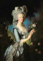 Vigee Le Brun: Marie Antoinette with a Rose. Fine Art Print/Poster