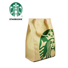 Starbucks Oxford Fabric Insulated Lunch Tote Bag with Handles