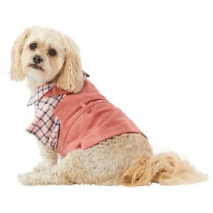 Top Paw Size Small Pink corduroy Overall Dog Dress