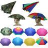 Faltbare Tarnung Sonnenschirm Herren Damen Regenschirm Hut Camo Kopfschirm Hut A