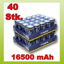 40 Stk Varta D Mono Industrial 1,5V LR20 Batterie Bulk 40x