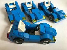 LEGO CITY - 4 blue SMALL town CARS + AS IN THE PICTURE