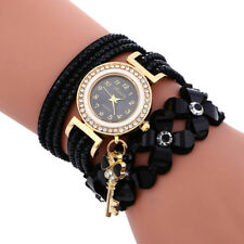 Fashion Ladies Diamond Leather Bracelet Wrist Watch Women's Casual Leather Gifts