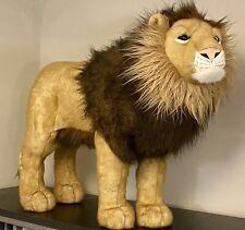 "FAO Schwarz Jumbo Large Big Plush Lion Play Room Nursery Zoo Display 35"" HUGE"