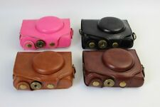 for Canon Powershot Sx740 Hs Sx740Hs Leather Camera Case Bag Neck Strap New