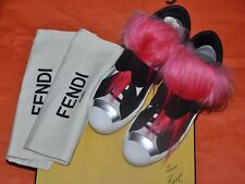 Authentic New Women's FENDI Karlito Fur Sneakers,EU40