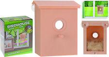 Nesting Box Plastic Bird House Window Bird Box with Clear Back and Spy Foil