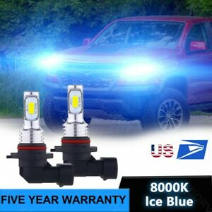 2x 9005 HB3 LED Headlight Bulbs Ice blue For Chevrolet Colorado 2017-2021 80W