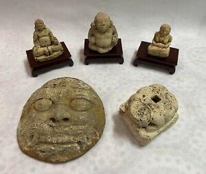 Group collection Indonesia Majapahit Kingdom Tuff stone Hindu God figure