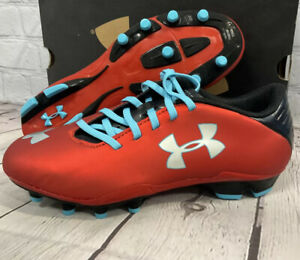 Under Armour Kid's Blur Flash lll FG JR Soccer Cleats Size 4.5Y Red New With Box