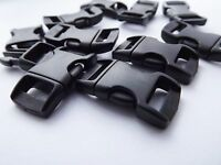 10mm Black Plastic Side Squeeze Release Buckle curved x 10