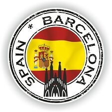 Seal Sticker of Spain Barcelona Stamp Bumper Roundel Laptop Car Truck #01