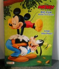 Mickey & Friends Big Fun Coloring Book Leap Into Play Bendon Ages 3+ New