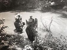 Photographie Armée Annam Annamite ( Indochine Vietnam ) éléphant 1957 Photo