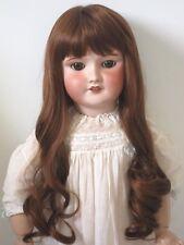 """perruque Jumeau®Auburn-34/36cm-poupée ancienne-doll wig headsz14"""""""