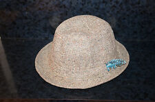 Size 7 3/8 60 DONEGAL Feather TWEED HAT OF IRELAND CAMPBELL Vintage Wool 54
