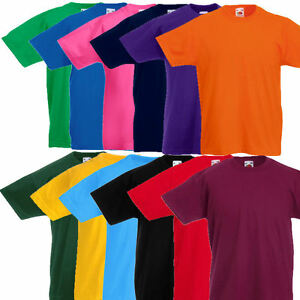 Fruit of the Loom Kinder T Shirt Kids T Shirts 104 116 128 140 152 164