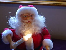 Vintage 1991 Animated Santa with Candle and Music