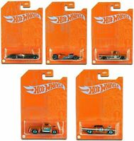 2021 Hot Wheels 53rd Anniversary Orange and Blue Series Set of 5 Cars 1/64 Scale