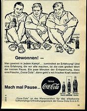 Coca Cola--gewonnen--Mach mal Pause --Werbung von 1964
