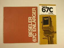 Beseler 67C enlarger instructions. 15 pages. and sales brochure