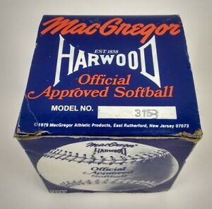 Vintage 1979 3153 A MacGregor Harwood Official Approved Softball  New In Box