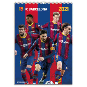 2021 FC Barcelona Wall Calendar 17 x12 inches Includes Lionel Messi Official