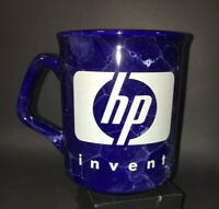 Collectable HP Invent Hewlett Packard Coffee Mug Cup Blue Marble