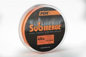 Fox Submerge Coulée Tresse Orange Vif / Carpe Pêche Mainline