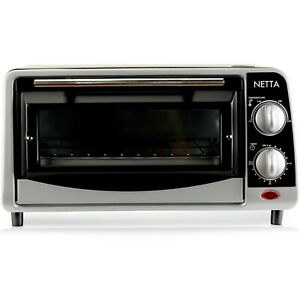 NETTA Mini Oven Electric 650W 9L Cooker Grill Baking Cooking Roast