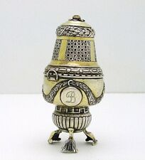 Gold Washed European Hallmarked Sterling Insence Burner Caster