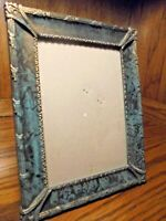 "Teal & Black Ornate Photo Frame 5""x7"" Picture Free-Standing Home Decor       115"