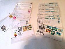 BOX LOT OF 495 - 1982 PRIME UN FDC'S GENEVA & VIENNA MINT COMBOS SINGLES MINT