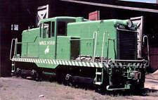 Wyoming Car Co. center-cab GE 44-ton switcher train railroad postcard