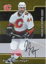 ROB NIEDERMAYER 2002 IN THE GAME SIGNATURE SERIEGOLD EDITION CERTIFIED AUTOGRAPH