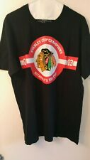 "CHICAGO BLACKHAWKS / MOLSON CANADIAN STANLEY CUP SIZE LARGE T-SHIRT ""NEW"""