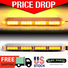 "Amber 22"" LED Emergency Warning Hazard Security Strobe Light Bar Off Road SIG"