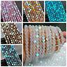 6mm Mystic Aura Quartz Gemstone Loose Beads Holographic Matte For Bracelet Women