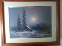 Lakeside Hideaway by Dalhart Windberg Signed print Professionally Framed