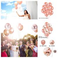 Rose Gold Foil Balloon Confetti Balloon Bouquet Set WeddingBirthday Party Decor