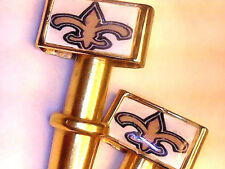 2 Saints New Orleans Football Brass USA Cribbage Pegs W/ Black Velvet Pouch a