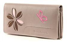 bruno banani Butterfly Damenbörse Geldbörse Portemonnaie Grau Grey Leder Neu