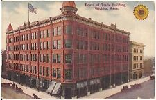 Board of Trade Building in Wichita KS Postcard 1912