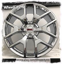 22 inch chrome GMC Sierra Denali 2015 2016 OE factory replica wheels rims 6x5.5