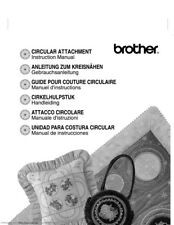 Brother Quattro 2 6700D Circular Attachment Owners Instruction Manual Reprint