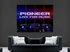 PIONEER DJ MUSIC CDJ MIXING CLUBBING  ART WALL LARGE IMAGE GIANT POSTER