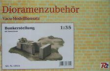 Bunkerstellung, Accessori Diorama, 1:3 5, Kit Modellismo Vacu, R2, Nuovo